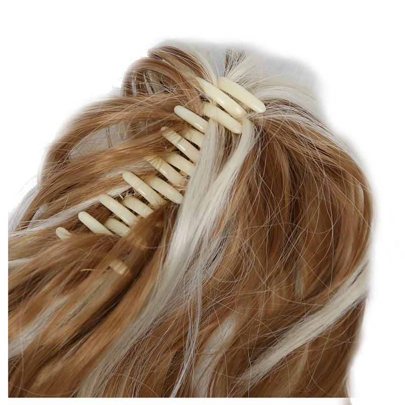 Women-039-s-Hairpieces-Wavy-Ponytail-Hair-Extensions-K22THK613B-Brown-amp-Blonde-Q8C5 thumbnail 4