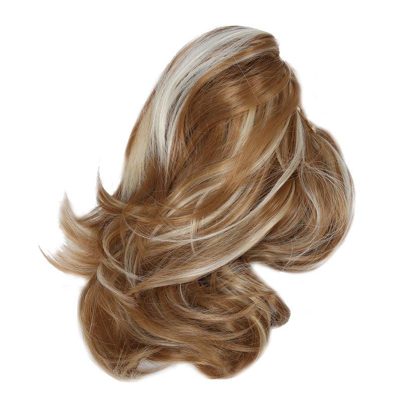 Women-039-s-Hairpieces-Wavy-Ponytail-Hair-Extensions-K22THK613B-Brown-amp-Blonde-Q8C5