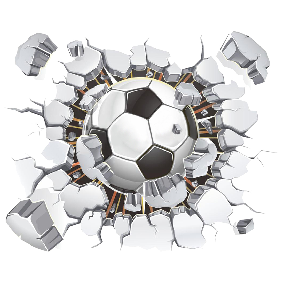 image football colour black and white a good decoration and give your home a fresh contemporary feel