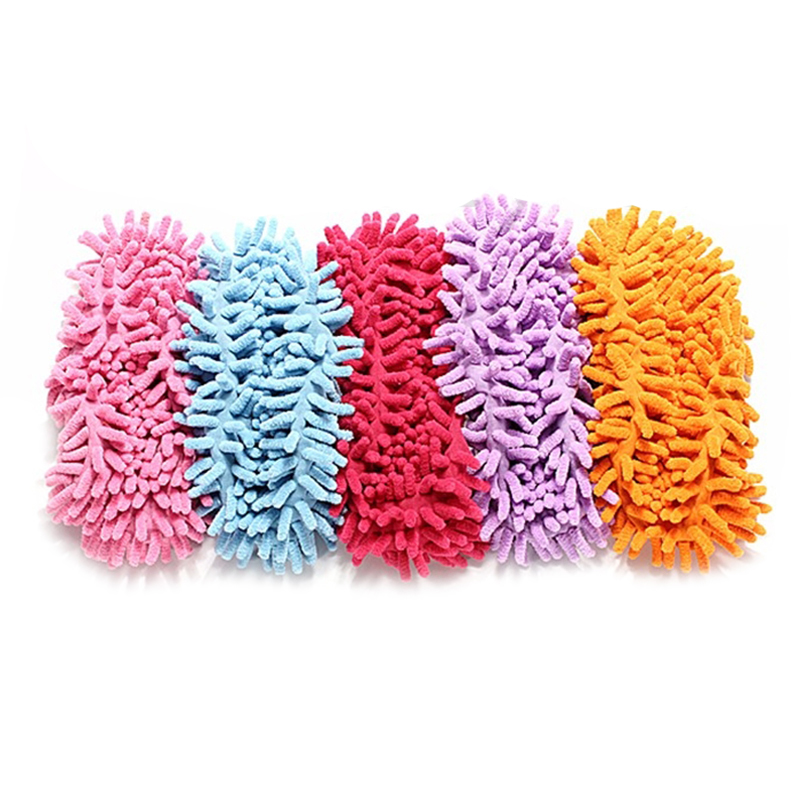 1-pieces-Mop-shoes-Floor-cleaning-Slippers-Cleaning-slippers-Wiping-mop-S5T6 thumbnail 3
