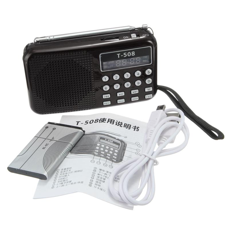 T508-Mini-Portable-LED-Light-Stereo-FM-Radio-MP3-Music-Player-TF-USB-Speaker-1A5 thumbnail 4