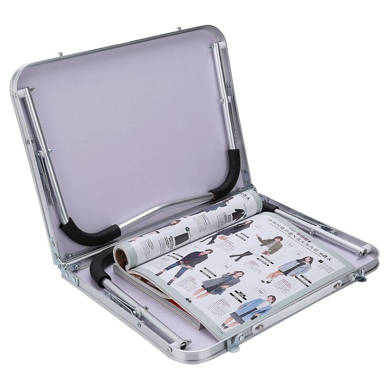 Support-De-Table-Portable-Reglable-Pour-Ordinateur-Pliant-Le-Plateau-De-Lit-S8L9 miniature 4