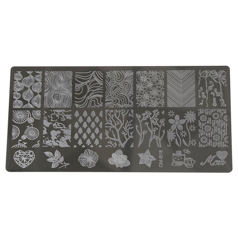 1 PC Nail Art Stamp Image Plates Stamping Manicure Insole Template ...