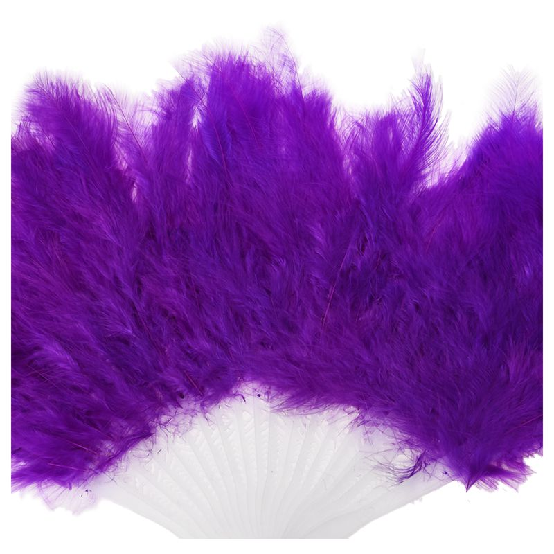 Phantom-Party-Supplies-Fluffy-Feather-Hand-Fan-Fancy-Elegant-Props-New-Gree-Q6J4 thumbnail 7