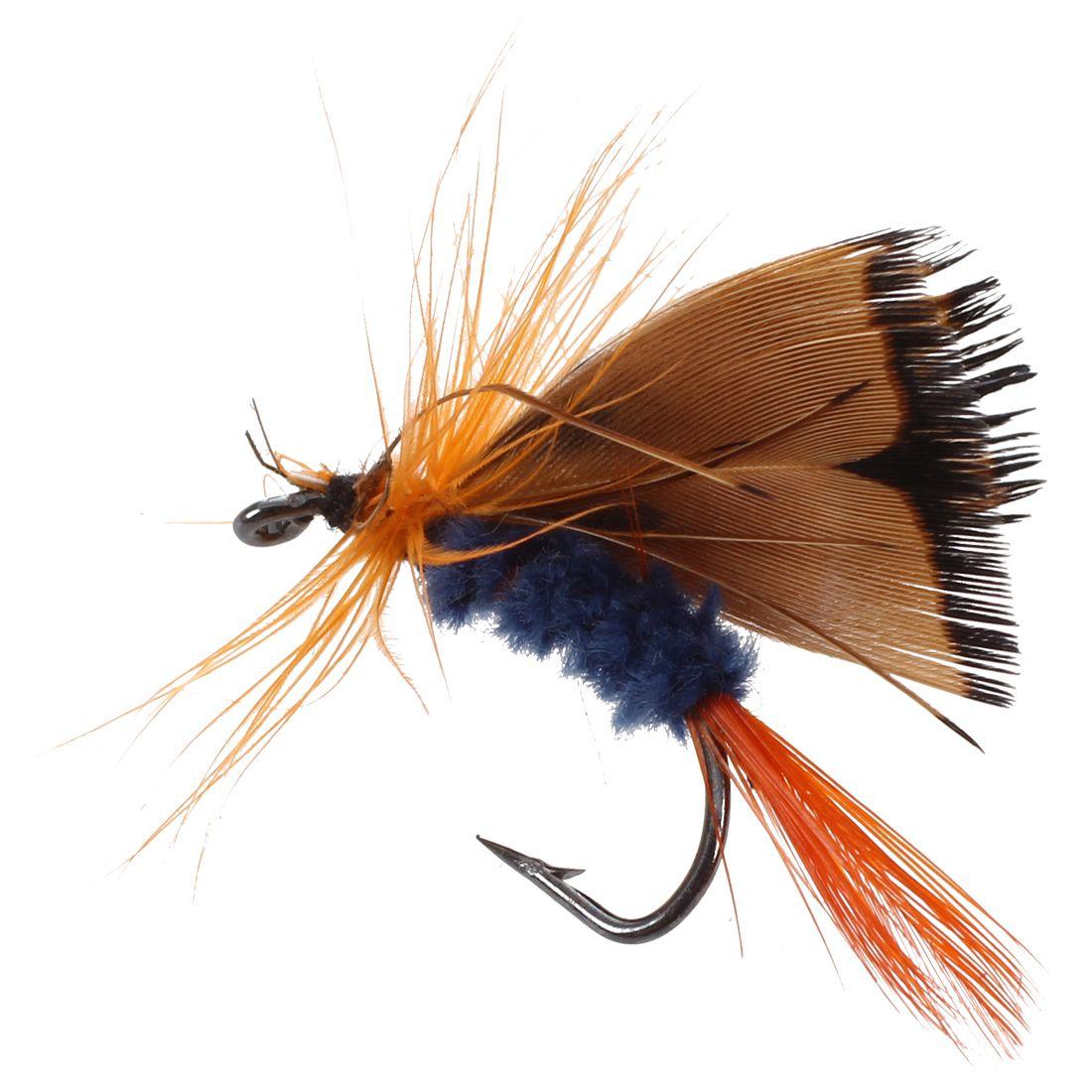 12 Stueck Fliegenfischen Haken Fischkoeder Feder Stahl Koeder Hakengeschirr P4O3