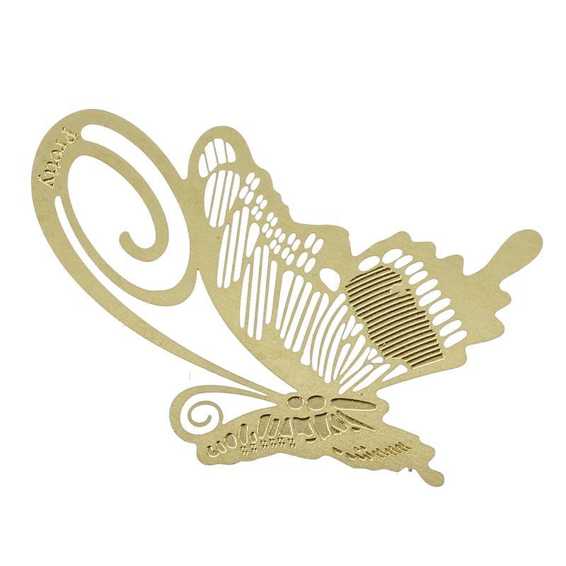 Großhandel Vergoldet Metall Lesezeichen Bookmark Schmetterling Geschenkidee