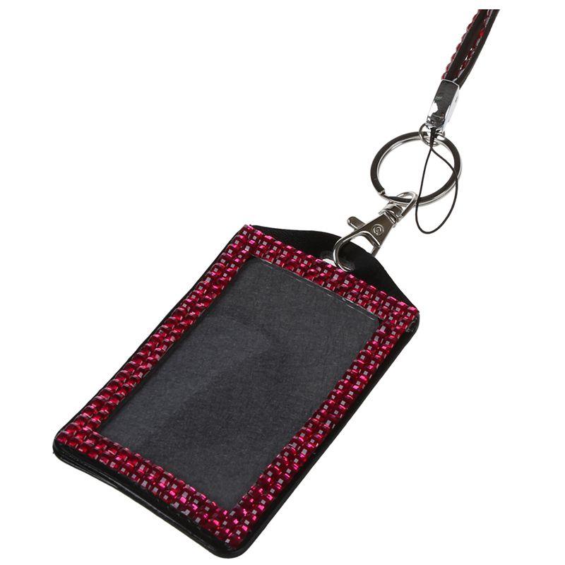 Rhinestone-Bling-Crystal-Custom-Lanyard-Vertical-ID-Badge-Holder-I9O6 thumbnail 26