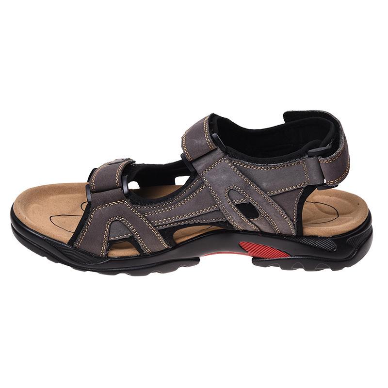 sandale homme Cuir sandales hommes taille 47 marron cuir Chaussures HDKWG6Lg