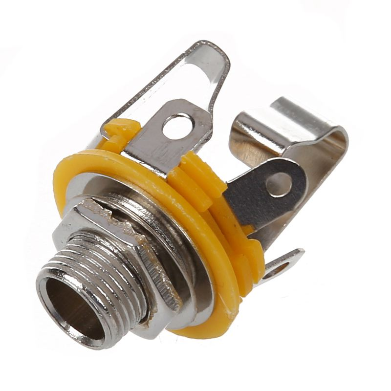 """New Stereo Output 1/4"""" 6.35mm Jacks Socket For Electric Guitar Switch Repai V5G9"""