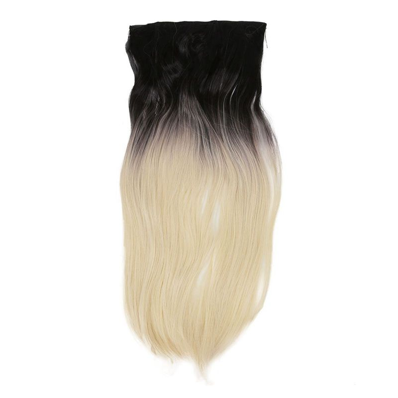 I977 Hairpiece Clip Hair Extensions Highlighting Colours Straight