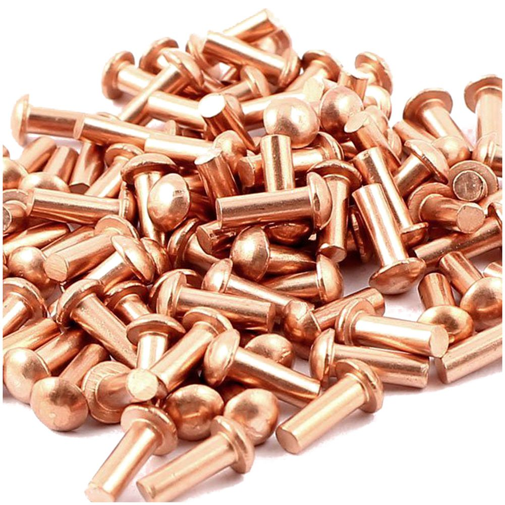 Details about 100pcs 3 * 8mm round head solid copper rivets fasteners K3G8