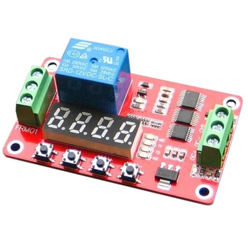 3X-12V-DC-Self-lock-Relay-PLC-Cycle-Timer-Module-Delay-Time-Switch-C4B1