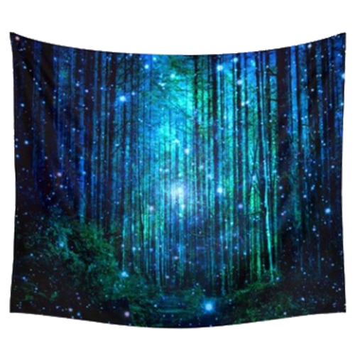 150x130cm Home Living Wall Decor Printing Hanging Tapestries(Firefly forest) X4I