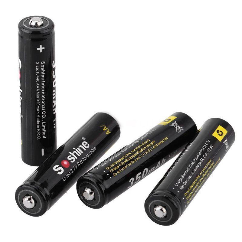Soshine-4pcs-3-7V-AAA-10440-350mAh-with-Transparent-box-Li-ion-Battery-V3I7 thumbnail 3