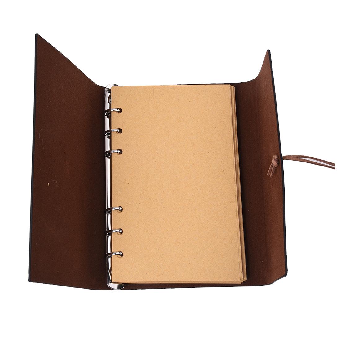 sélectionner pour officiel de style élégant Achat/Vente Détails sur Carnet avec Personnalite Retro cahier intime reliure a anneaux  Noir L V5Q5