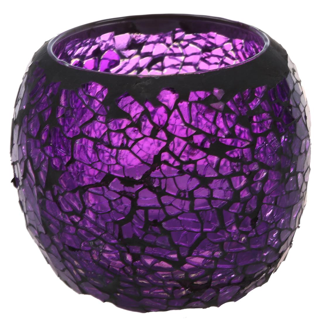 Handgefertigt deko glas teelicht kerzenhalter schwarz rand for Teelicht deko