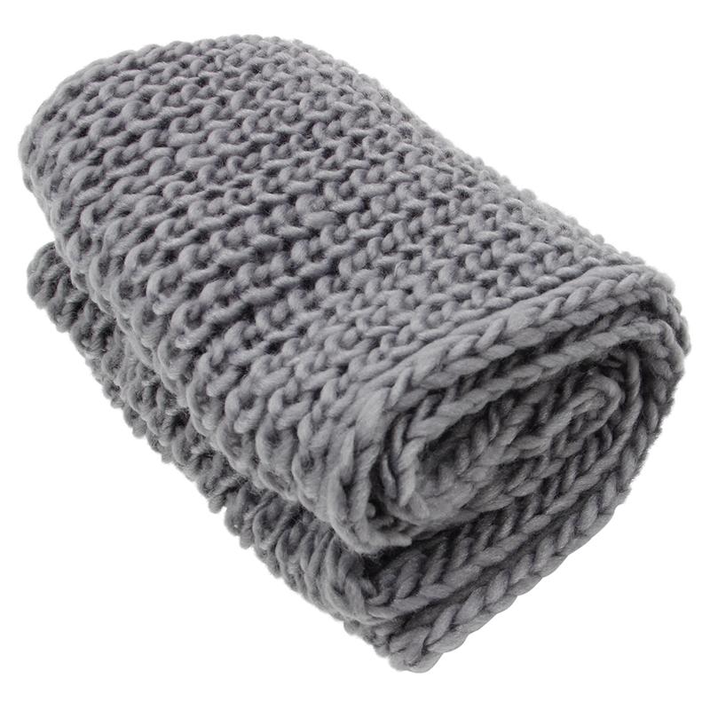 ... pour femme Tour de cou d hiver (gris) L9V9) RO. 1X(100% tout neuf et de  haute qualite. Materiel  laine melangee. Taille  100-135 cm   39,4-53,1  pouces e25895269f0