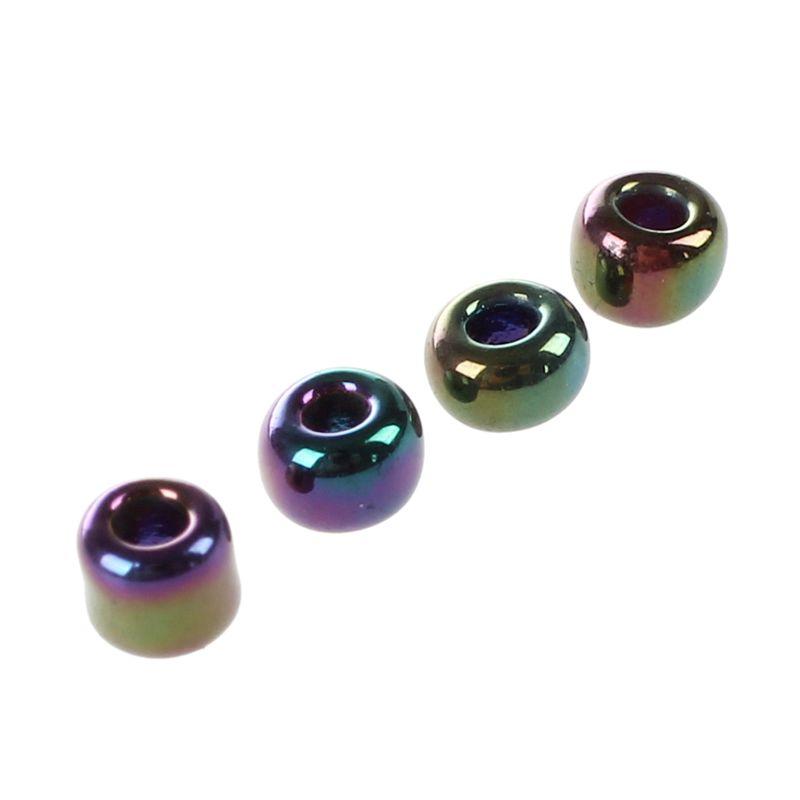 1200-piezas-2mm-cuentas-redondas-checas-de-granos-de-color-purpura-de-metal-P8P5 miniatura 4