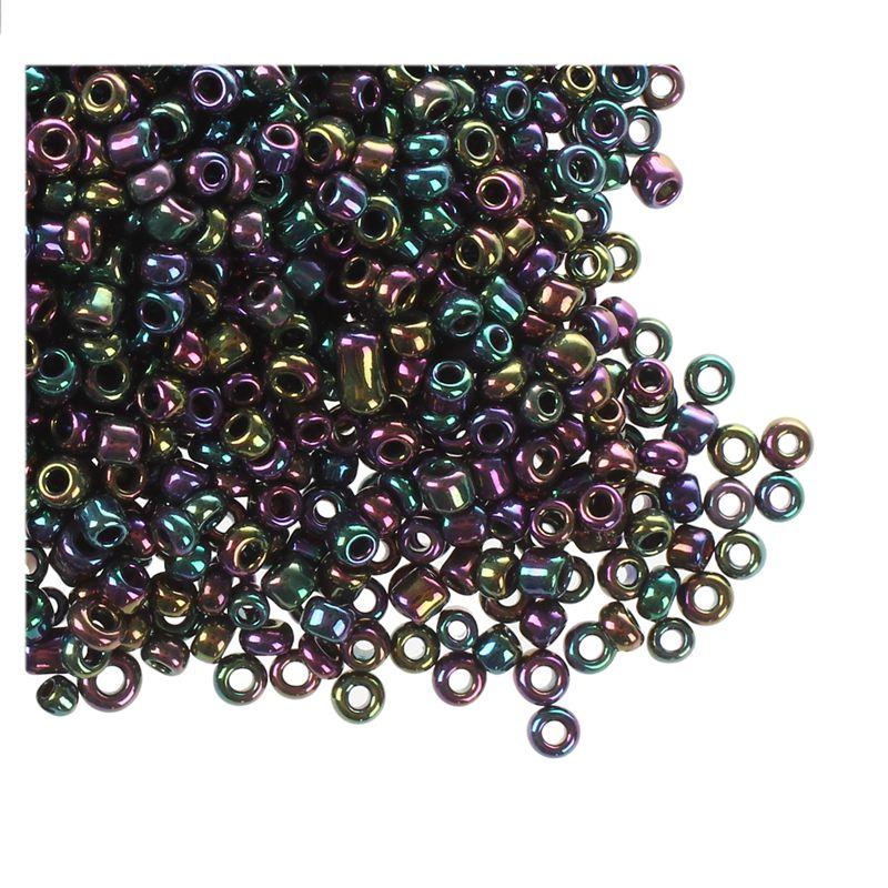 1200-piezas-2mm-cuentas-redondas-checas-de-granos-de-color-purpura-de-metal-P8P5 miniatura 5