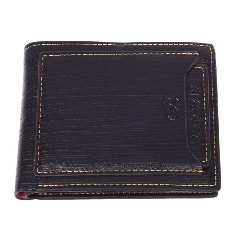 PIDENGBAO Men's Faux Leather Bifold Wallet Slim Purse (Coffee) W5Q3