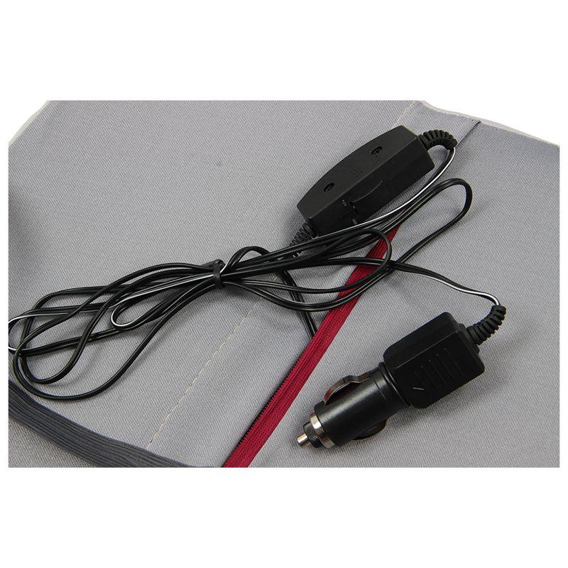 Gris-coussin-de-soutien-Massage-electrique-Coussin-Oreiller-de-voiture-12V-W1M1 miniature 8