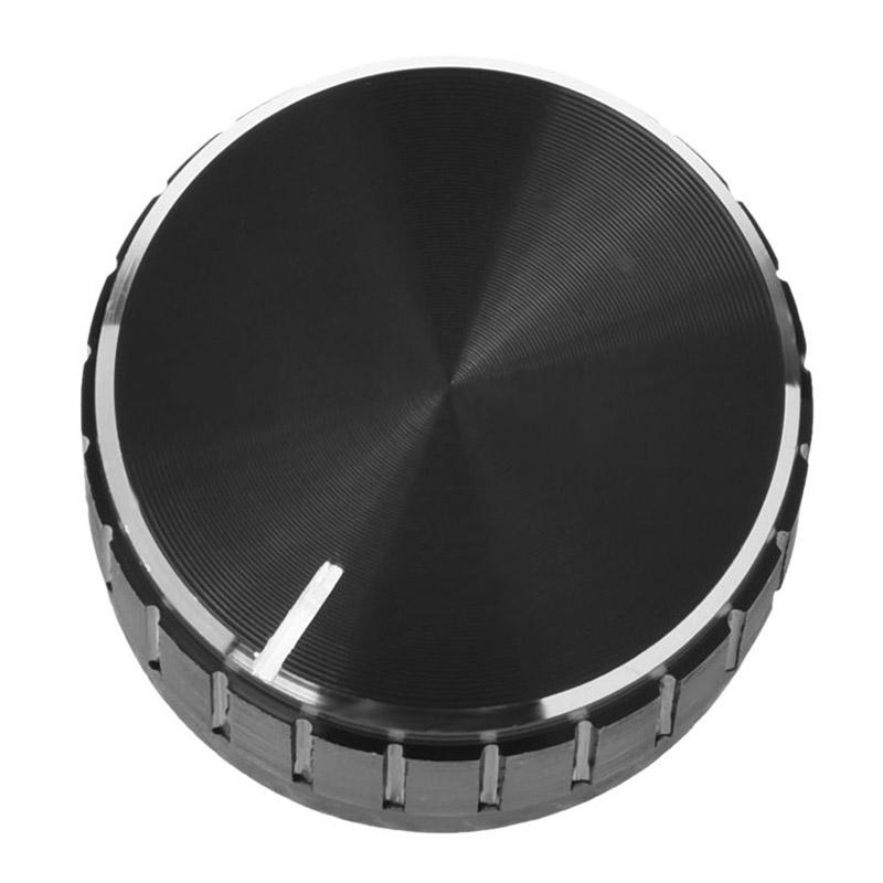 1PC Black Aluminum Volume Control Knob Amplifier Wheel 30*10mm YJ