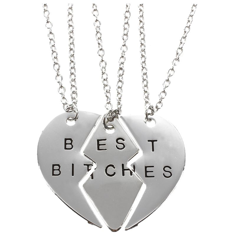 Special-Design-Best-Bitches-Sister-Friends-Break-Love-Heart-Pendant-Neckl-C7C3
