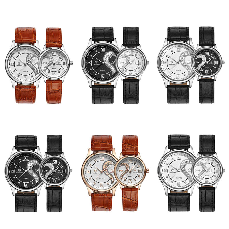 Tiannbu 1 Pair/2pc Ultrathin Leather Romantic Fashion Couple Wrist Watches Z9c4. About this product. Picture 1 of 2 ...