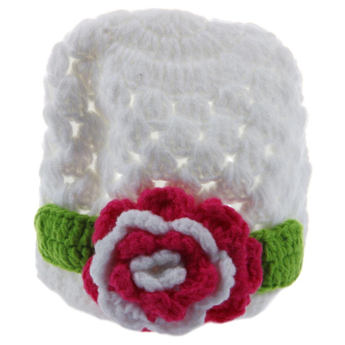 Gorra de bebe de flor de ganchillo hecho a mano de invierno de punto ...