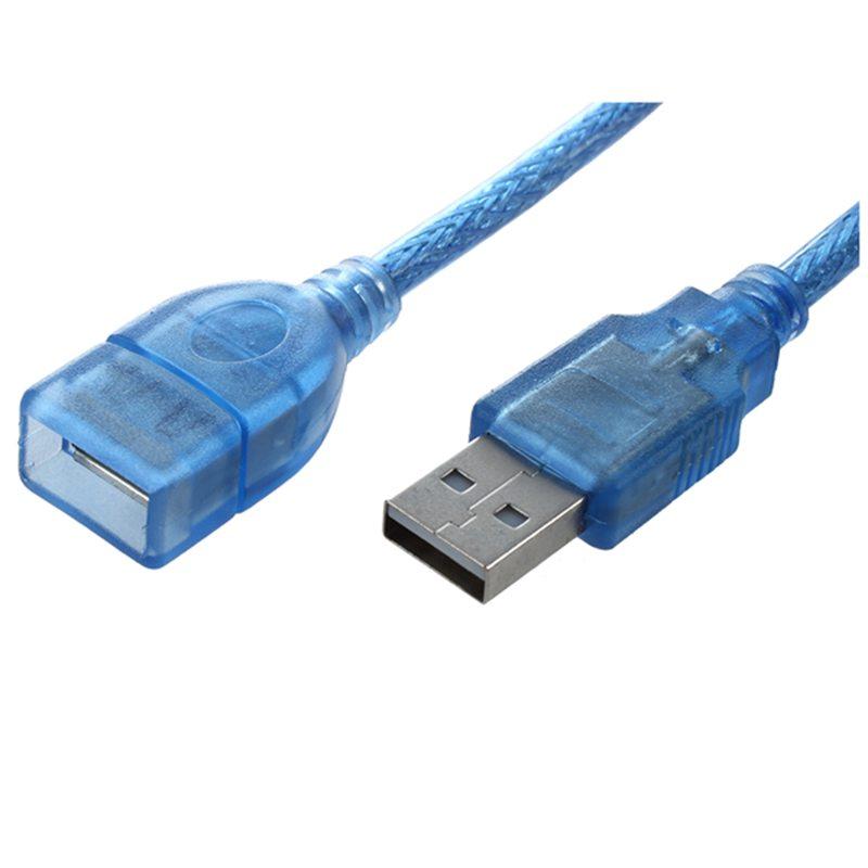 Azul-carcasa-de-plastico-USB-2-0-macho-a-hembra-AF-AM-Cable-alargador-de-50-c-ST