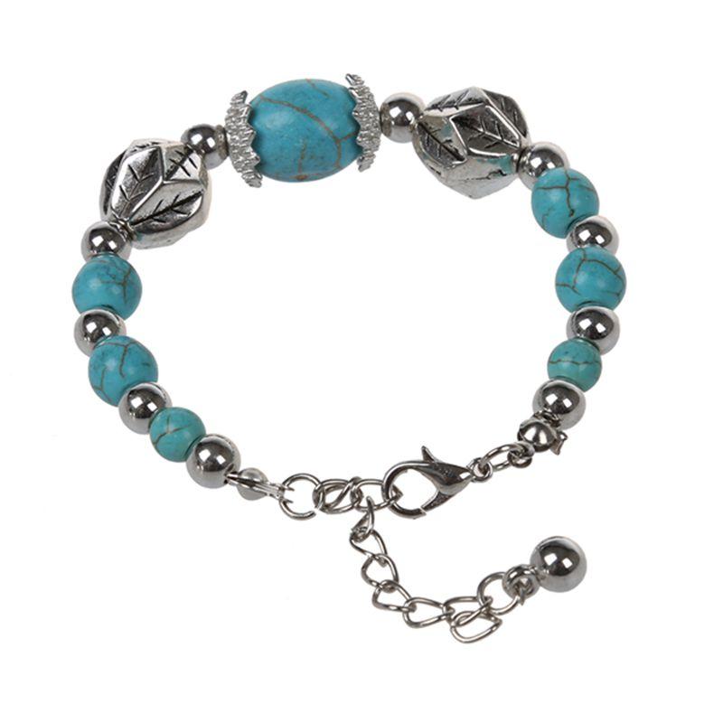 Materiel Argent tibetain, Turquoise Couleur Argent, bleu clair. Sexe  Femmes Longueur du bracelet 250mm. Quantite 1 piece. Condition 100% tout  neuf