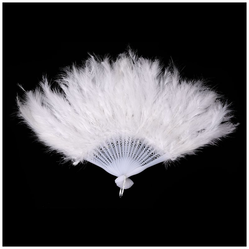 Phantom-Party-Supplies-Fluffy-Feather-Hand-Fan-Fancy-Elegant-Props-New-WhitQ2X2 thumbnail 2