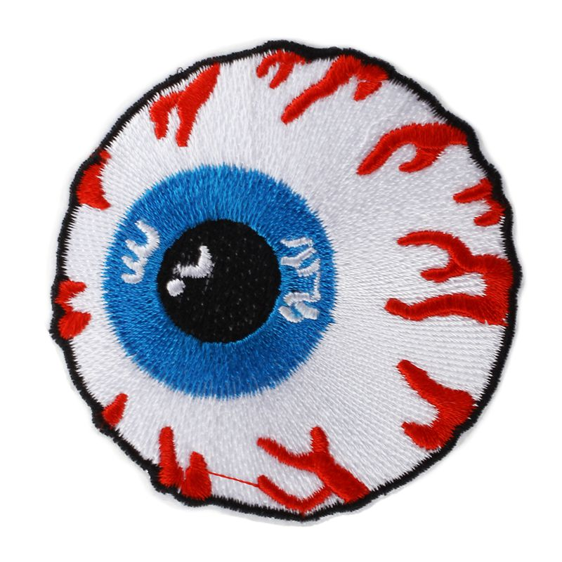 Crafts New 1 Pc Eyeball Embroidered Iron On Applique Motif Patch O8S1