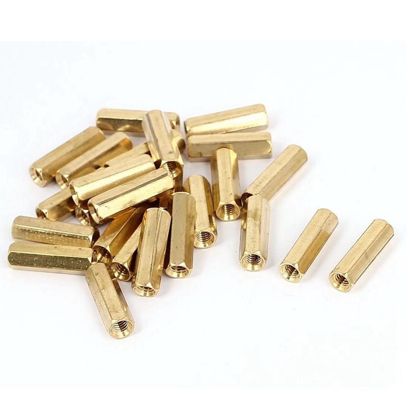 10x Brass Standoff Spacer M4 Male x M4 Female 20mm