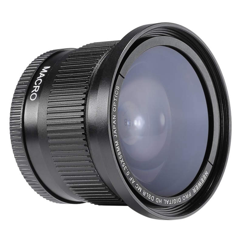 2X-Wide-Angle-Fish-eye-Lens-58mm-0-35x-Wide-Angle-Lens-with-Lens-Cap-with-5-O6I1
