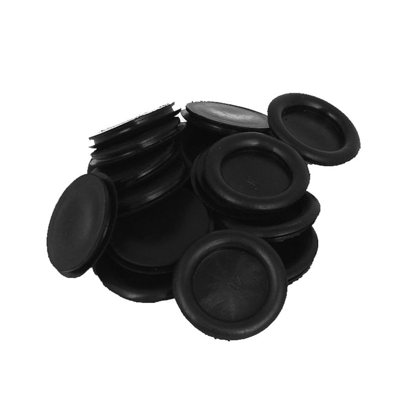 20pcs Black Rubber Closed Blind Blanking Hole Wire Cable Grommets 40mm G9T8