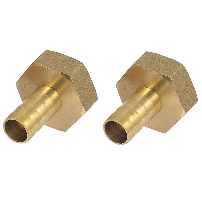 Schlauch Widerhaken Verbindungsrohr Adapter 2 Stück 3//4 BSP Innengewinde Dmr
