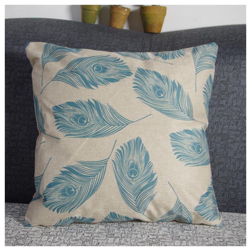 5X-feather-flax-Pillow-Case-Throw-Cushion-Covers-Home-Sofa-Back-Car-Decor-Q9A3