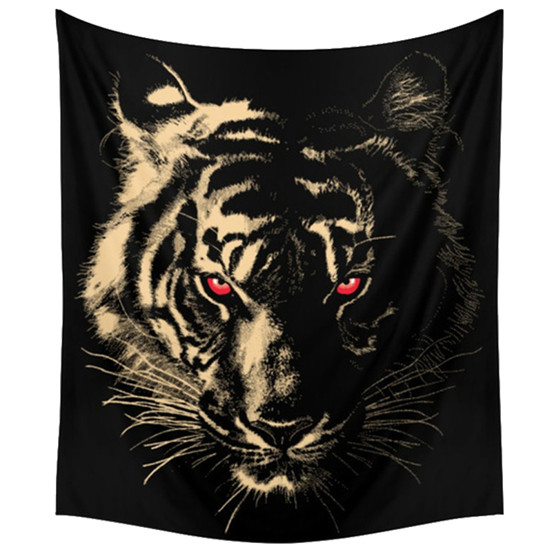 150x130cm Tapestry Home Decorative Polyester tiger Pattern Beach Towel Fash C1S1