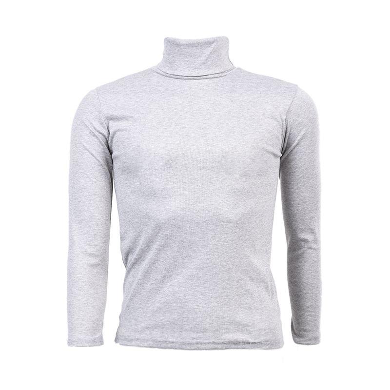 Moda para Hombre otono invierno de cuello alto sueter camisa patron ...