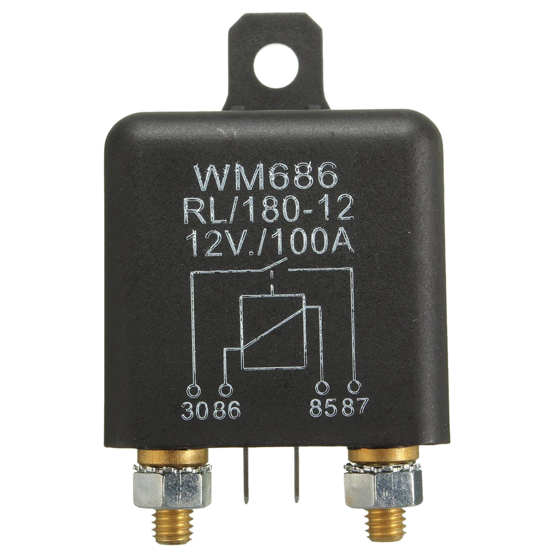 12v 100amp 4 Pin Heavy Duty On Off Switch Split Charge Relay For 12 Volt 25 Amp Metal Toggle Automotive Wiring Make Or Break Durable Firm Stable Universal Fit Ideal All Applications Such As Car Van Boat Etc