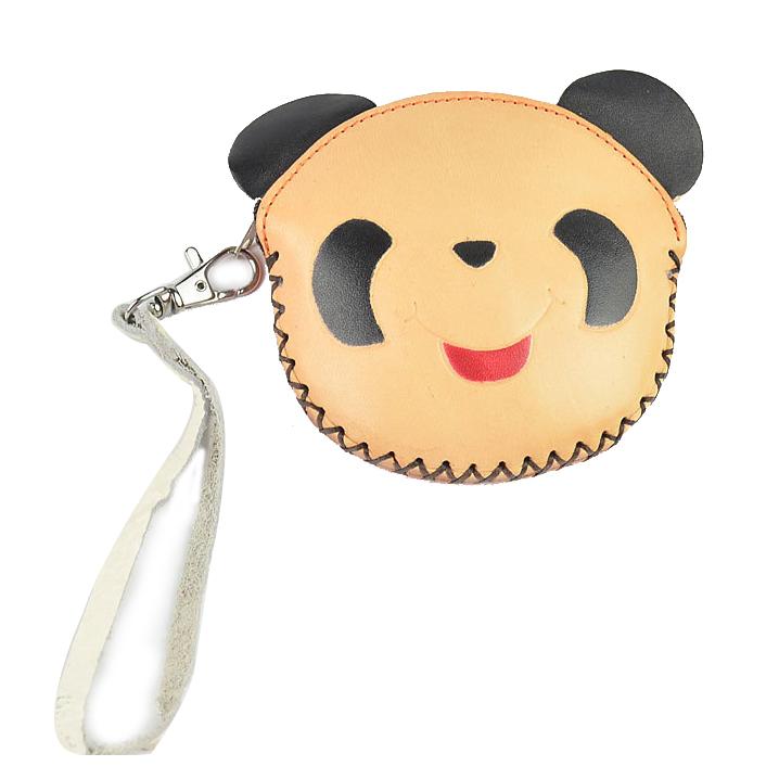 Handmade imitation leather Hand Bag Simple  Personality Cute Cartoon panda  K9M7