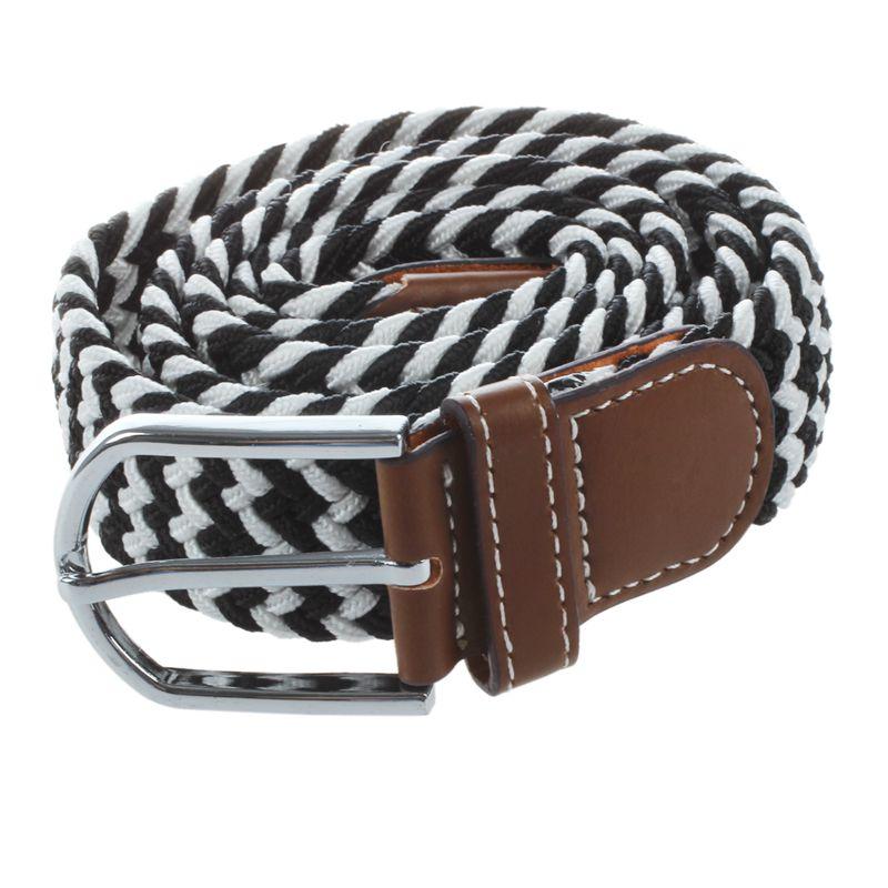 Homme-Femme-Cuir-Boucle-de-ceinture-en-toile-Ceinture-ceinture-elastique-Ce-O2K5 miniature 6