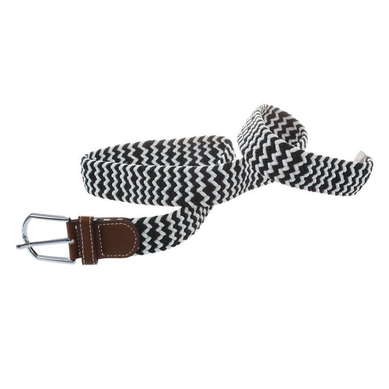 Homme-Femme-Cuir-Boucle-de-ceinture-en-toile-Ceinture-ceinture-elastique-Ce-O2K5 miniature 7