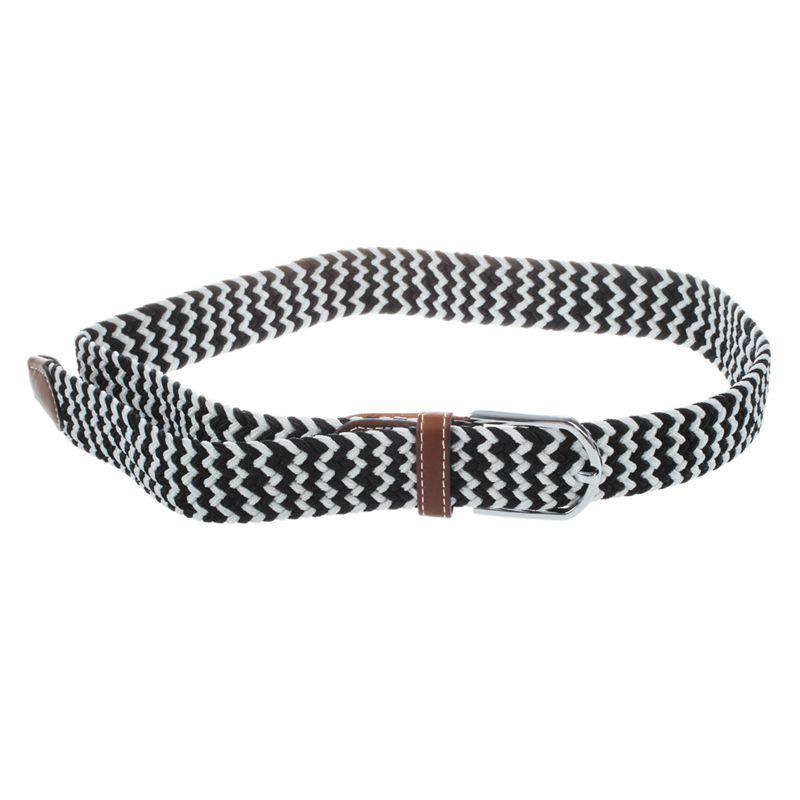 Homme-Femme-Cuir-Boucle-de-ceinture-en-toile-Ceinture-ceinture-elastique-Ce-O2K5 miniature 8