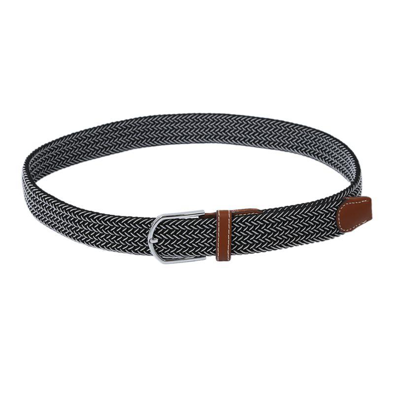 Homme-Femme-Cuir-Boucle-de-ceinture-en-toile-Ceinture-ceinture-elastique-Ce-O2K5 miniature 11