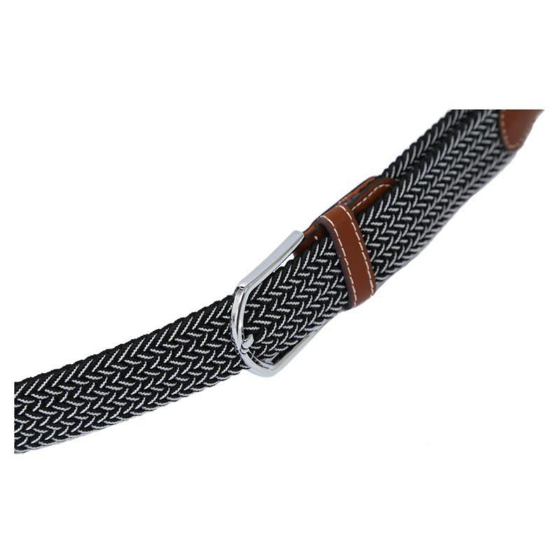 Homme-Femme-Cuir-Boucle-de-ceinture-en-toile-Ceinture-ceinture-elastique-Ce-O2K5 miniature 13