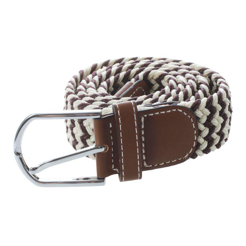 Homme-Femme-Cuir-Boucle-de-ceinture-en-toile-Ceinture-ceinture-elastique-Ce-O2K5 miniature 15