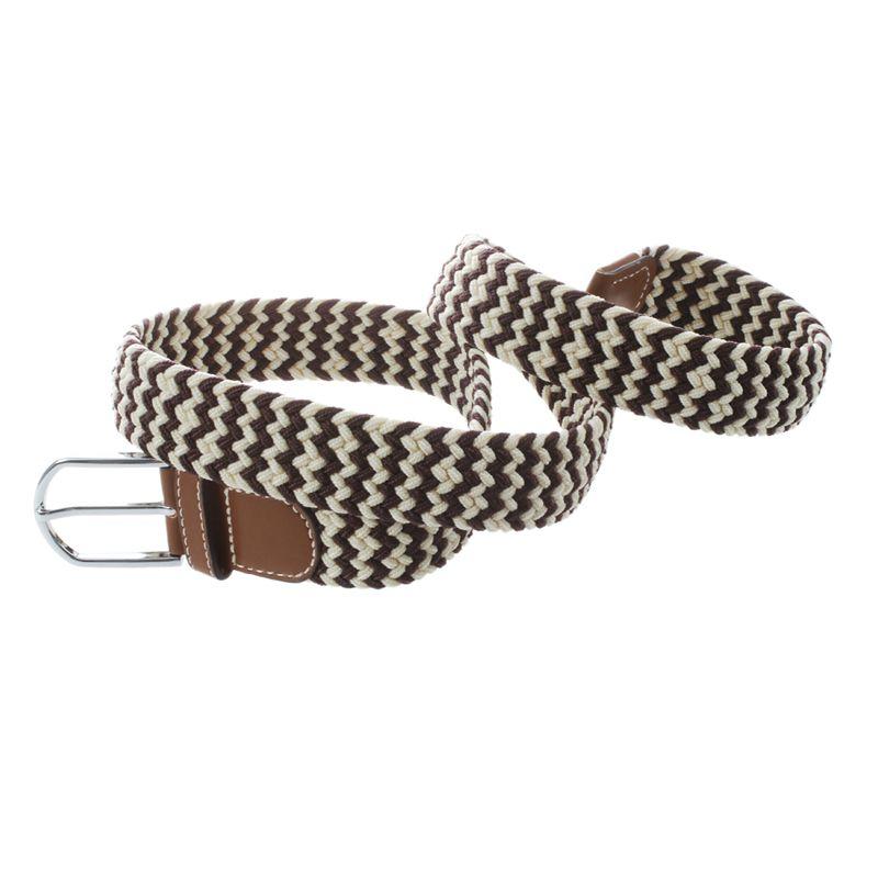 Homme-Femme-Cuir-Boucle-de-ceinture-en-toile-Ceinture-ceinture-elastique-Ce-O2K5 miniature 16