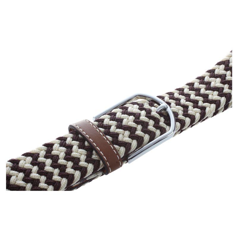 Homme-Femme-Cuir-Boucle-de-ceinture-en-toile-Ceinture-ceinture-elastique-Ce-O2K5 miniature 18